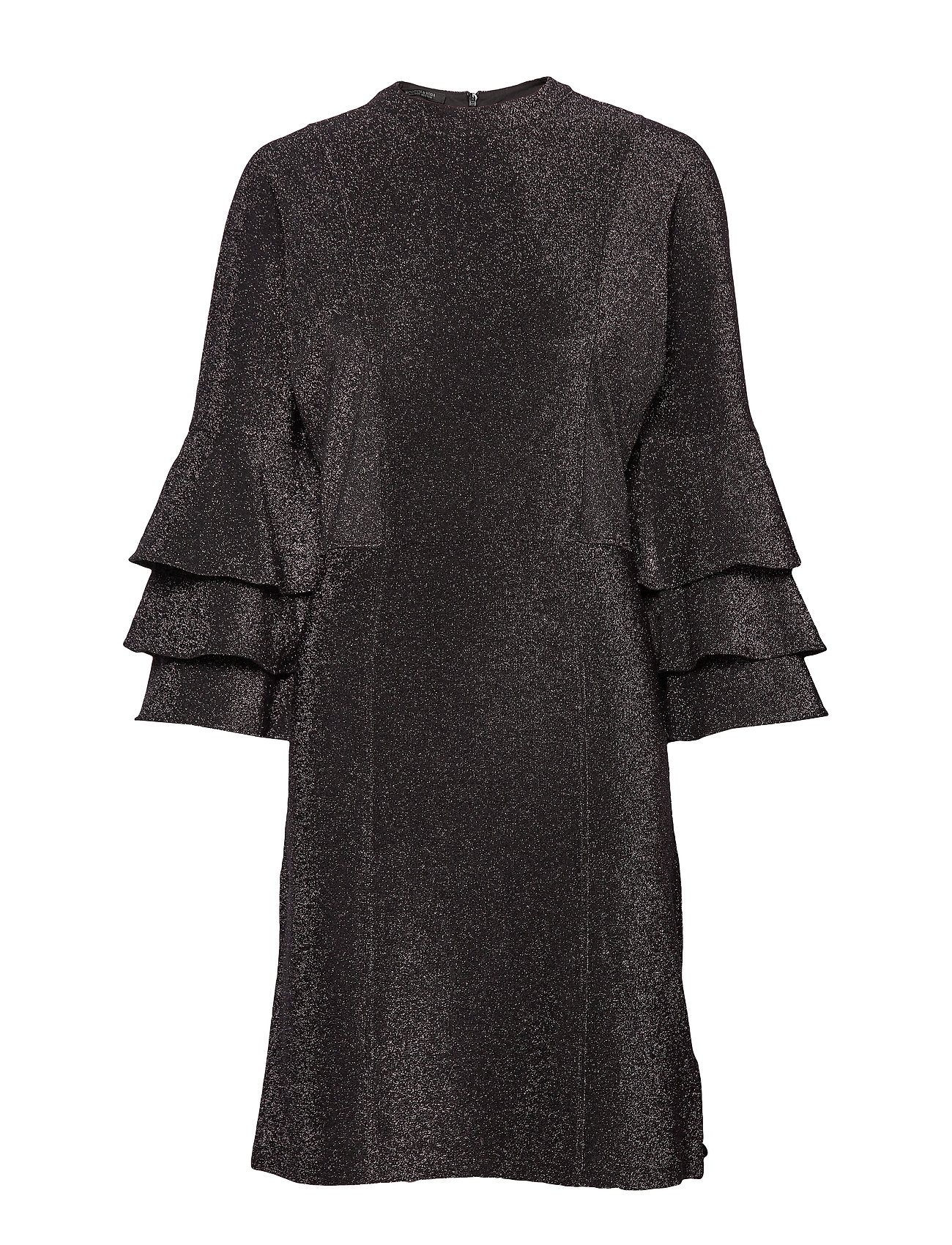 Scotch & Soda Ruffled dress with lurex - BLACK