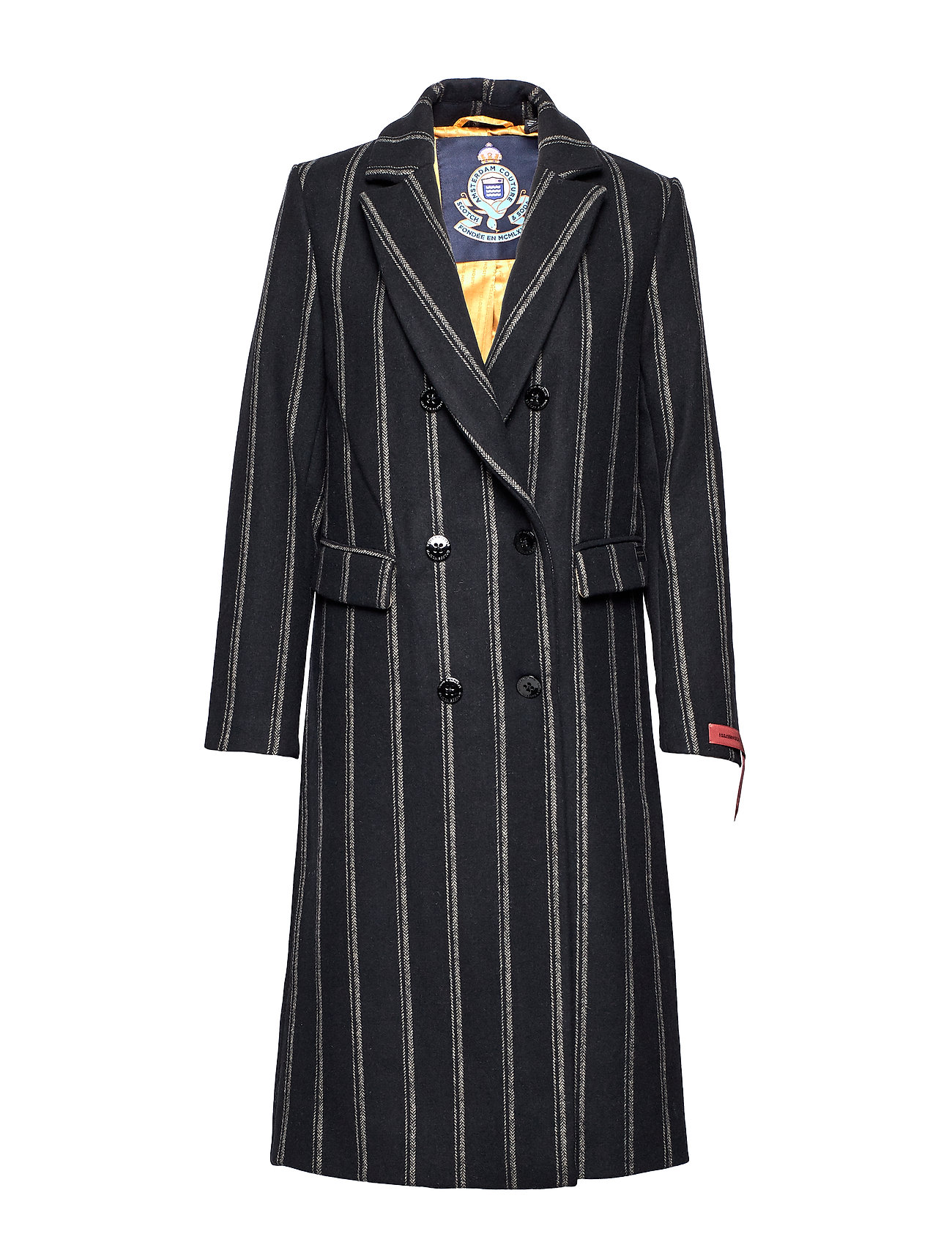 Scotch & Soda Long double breasted tailored wool coat - COMBO D