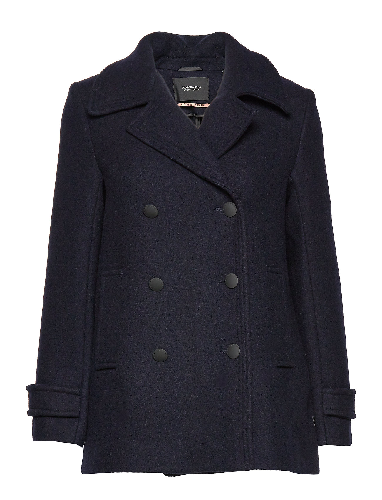 Scotch & Soda Double breasted peacoat - NIGHT