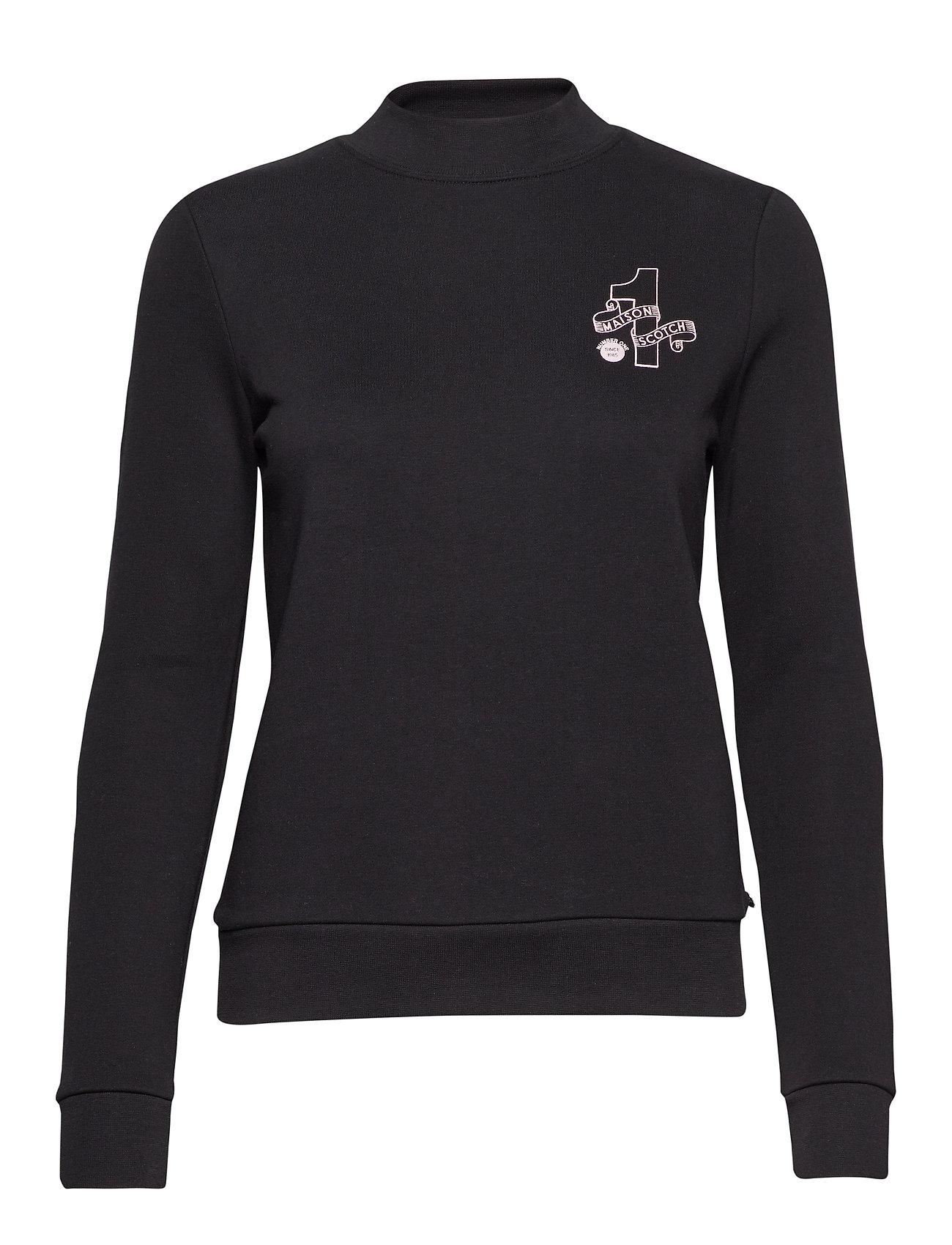 Scotch & Soda 'Maison Scotch' logo sweater - BLACK