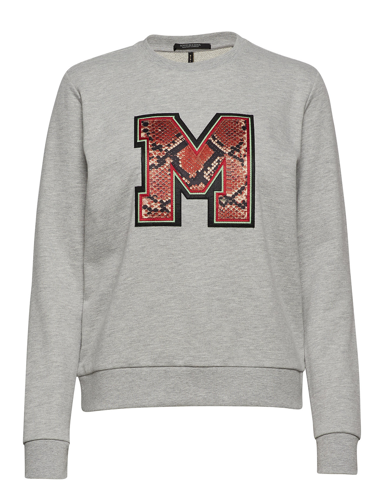 Scotch & Soda Crewneck sweat with badge - GREY MELANGE
