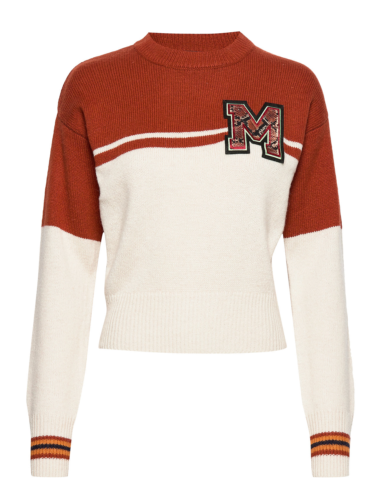 Scotch & Soda Varsity colour block sweater with badge - COMBO A
