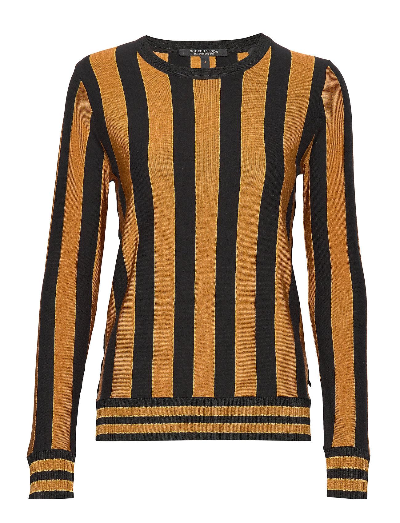 Scotch & Soda Basic pullover in vertical stripe - COMBO N