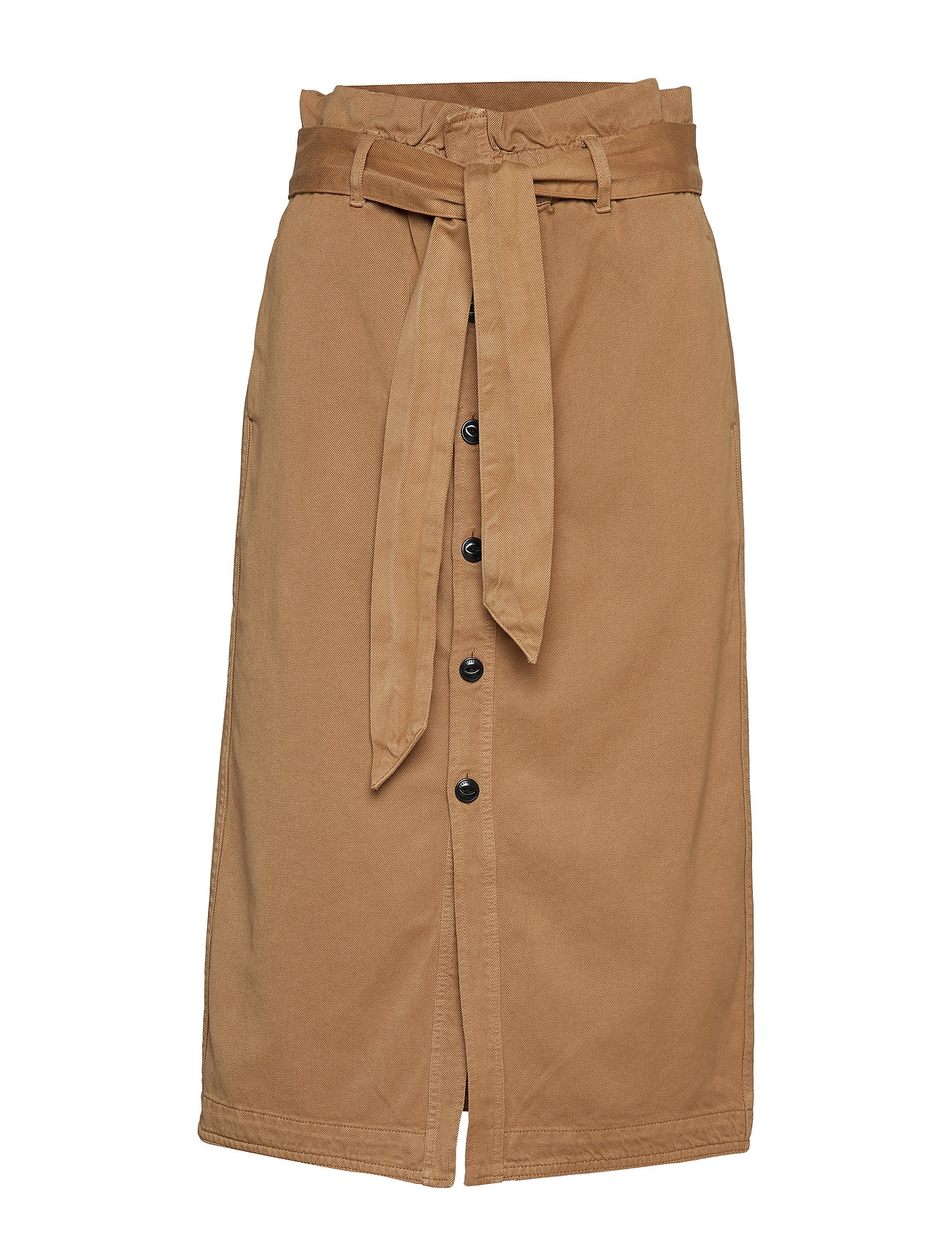 Scotch & Soda High waisted skirt in drapy quality - SAND