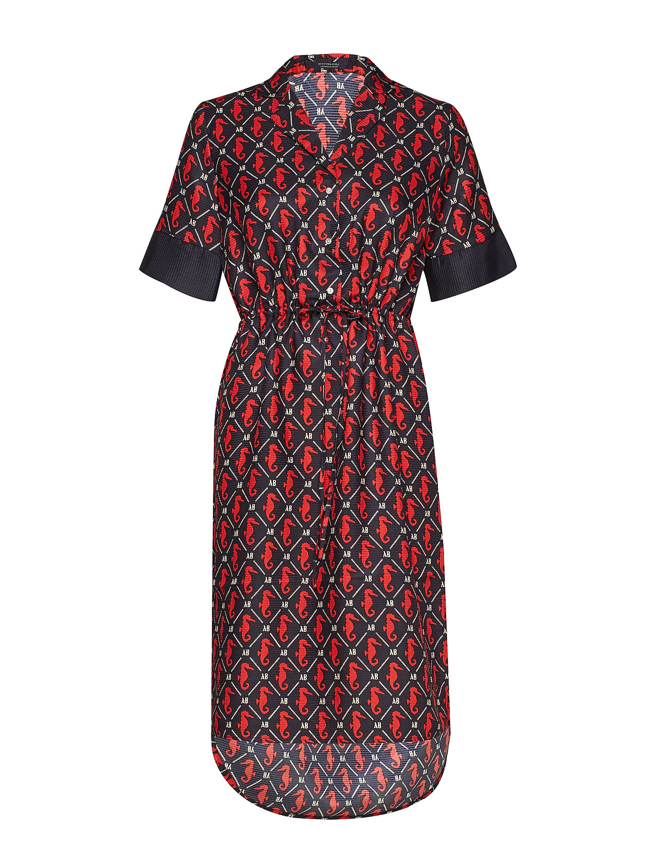 Scotch & Soda Allover printed dress in shiny quality - COMBO B