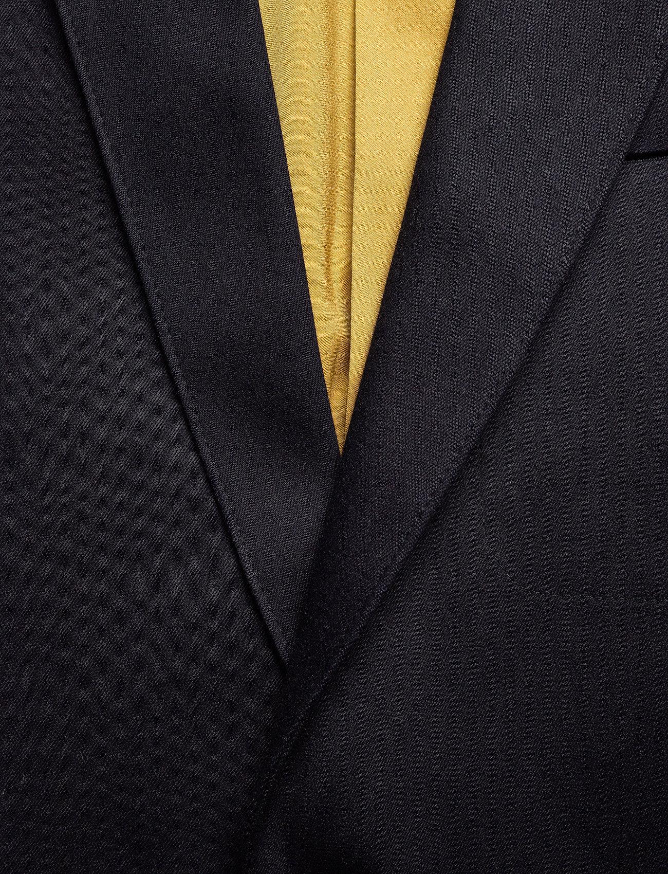 Scotch & Soda - Ams Blauw stretch denim blazer - blazers à boutonnage simple - indigo - 1