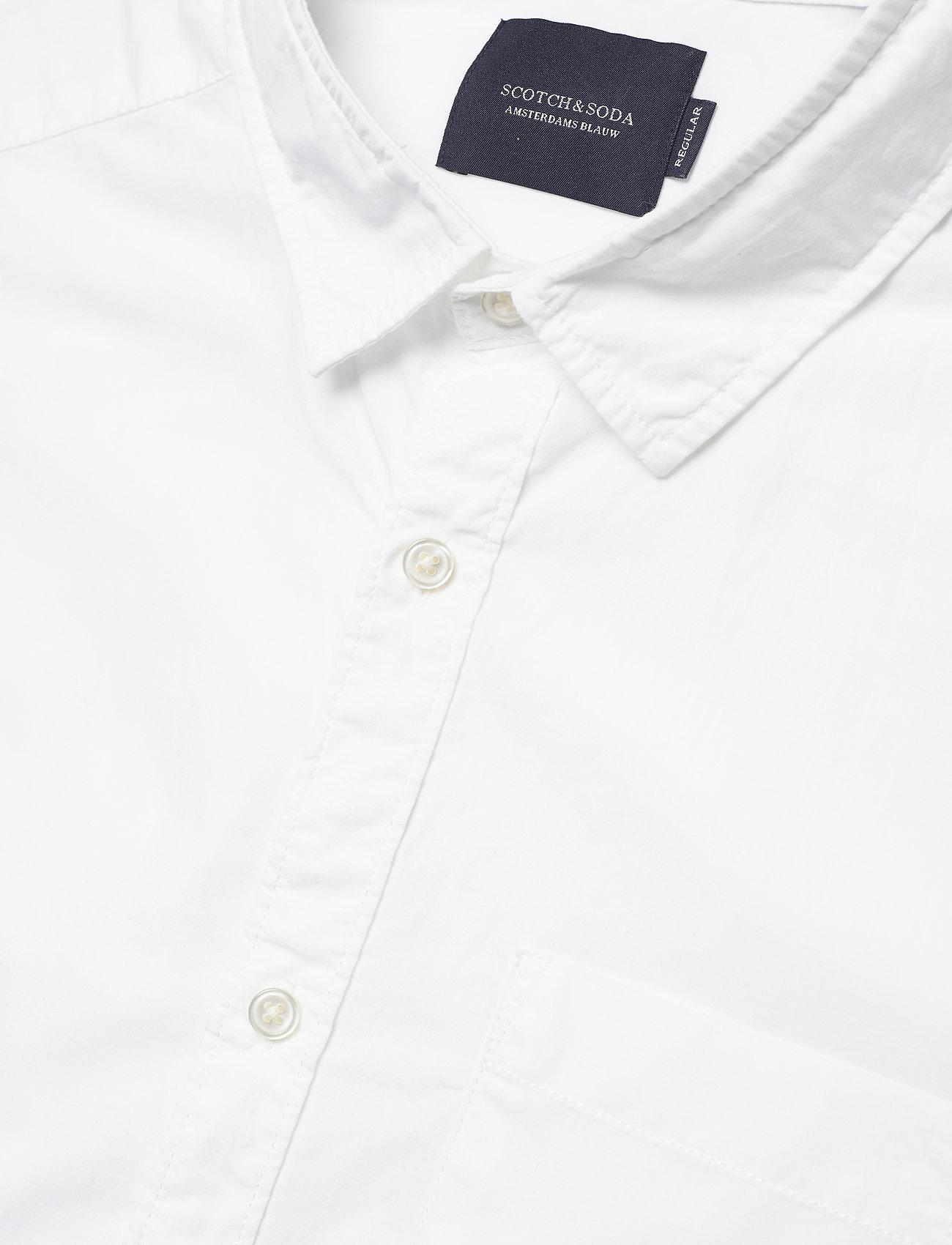 Scotch & Soda - Ams Blauw light weight shirt - basic shirts - off white - 1