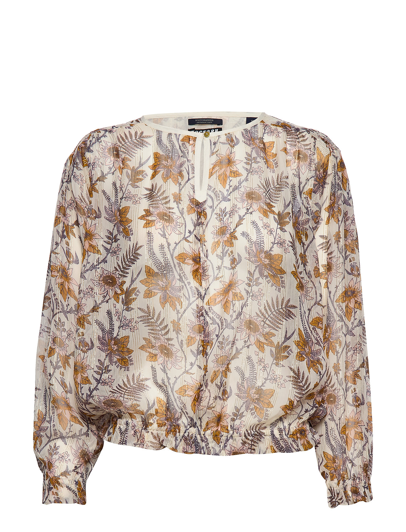 Scotch & Soda Drapey top in floral prints with elastic detailing - COMBO A