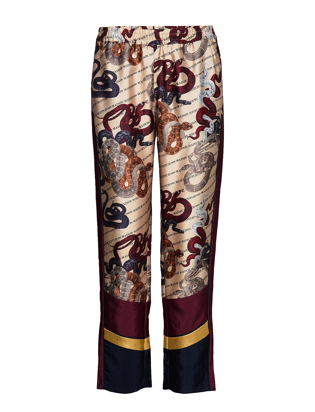 Scotch & Soda Tailored jogger pants with contrast panels - COMBO S