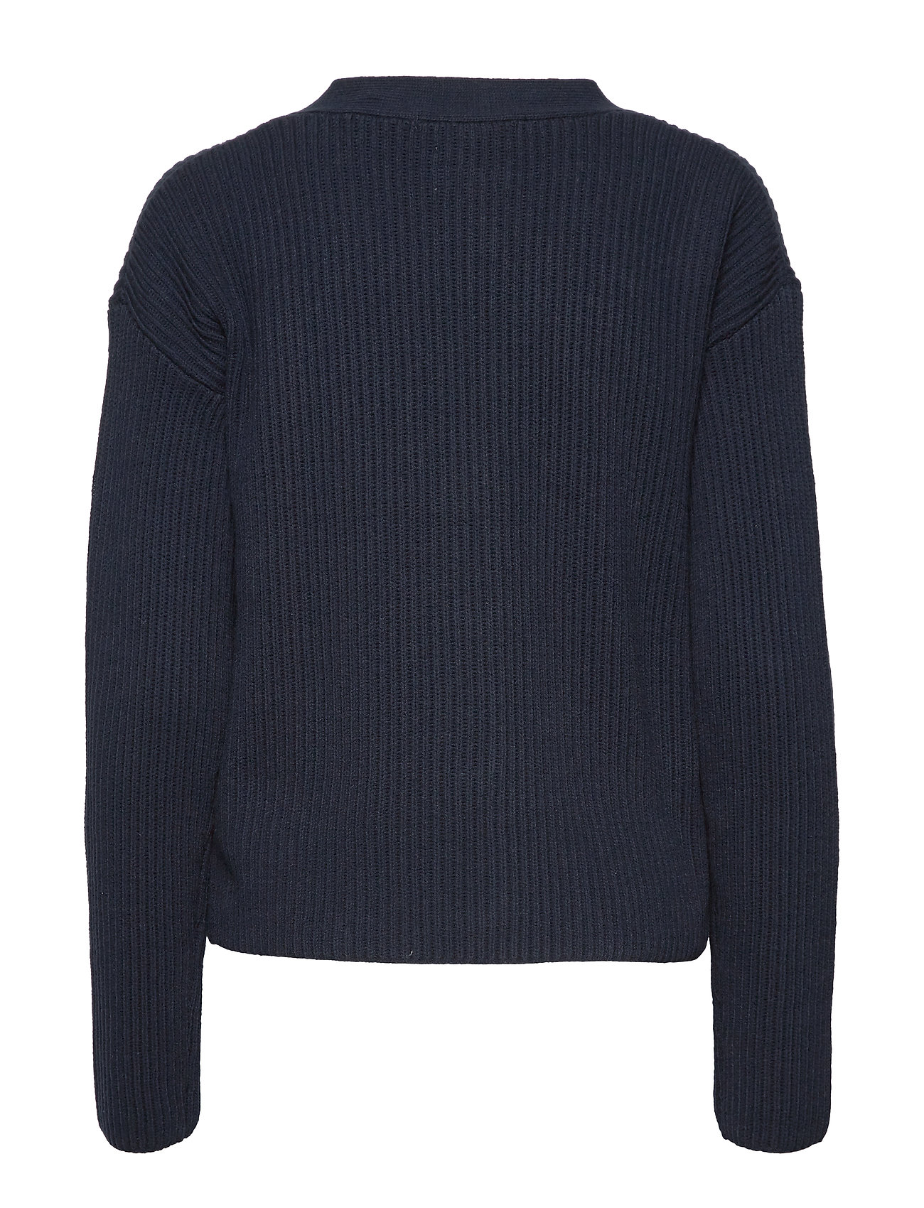 SCOTCH & SODA Strickoberteile & Pullover | V-Neck Chunky Rib Knit Cardigan Cardigan Strickpullover Blau SCOTCH & SODA