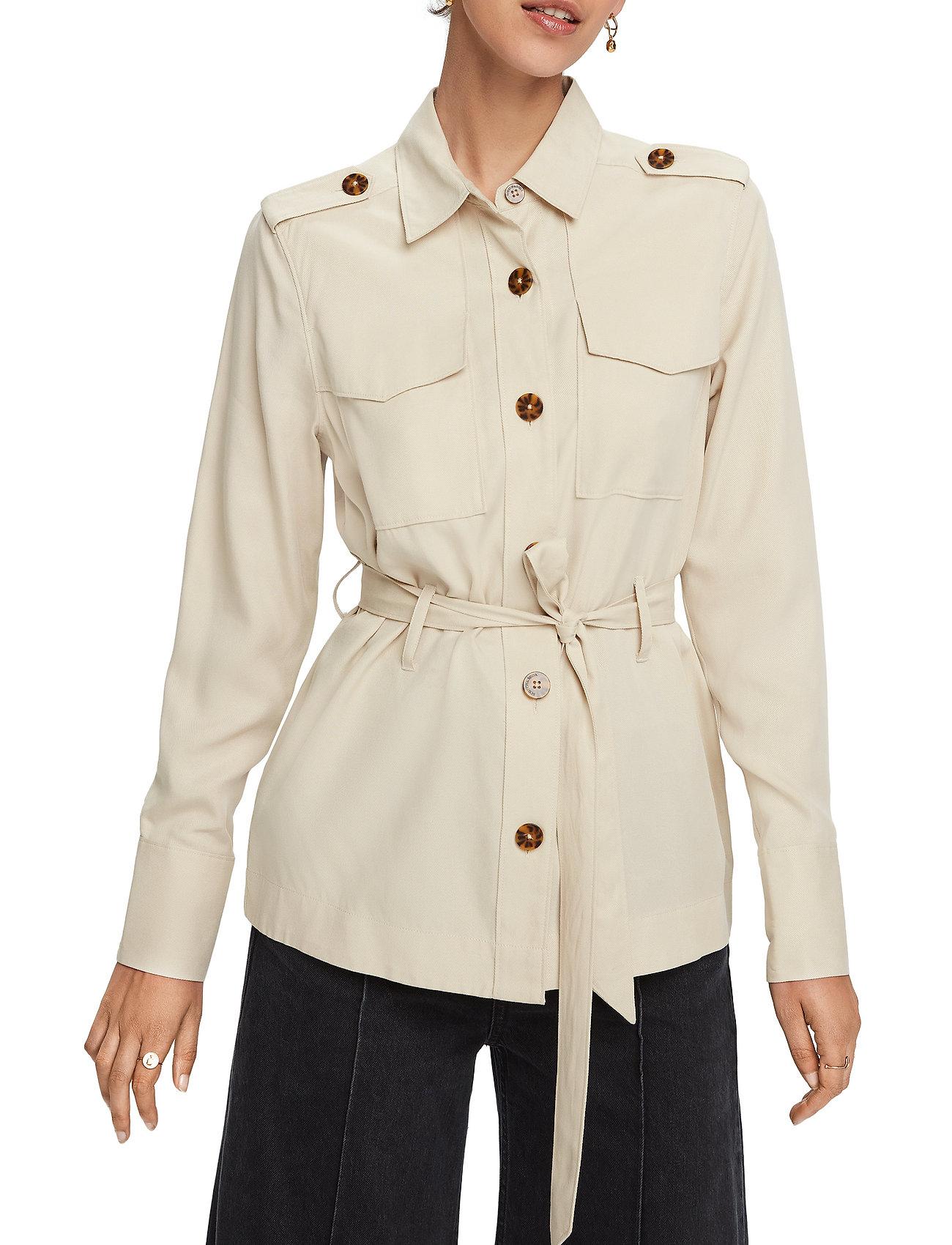 Scotch & Soda - Drapey safari shirt - vestes utilitaires - natural cloth - 0