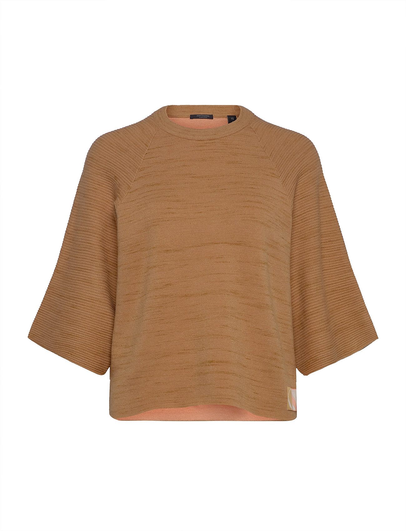 Image of Club Nomade Knitted Pull T-Shirts & Tops Knitted T-Skjorte/tops Beige Scotch & Soda (3423819141)