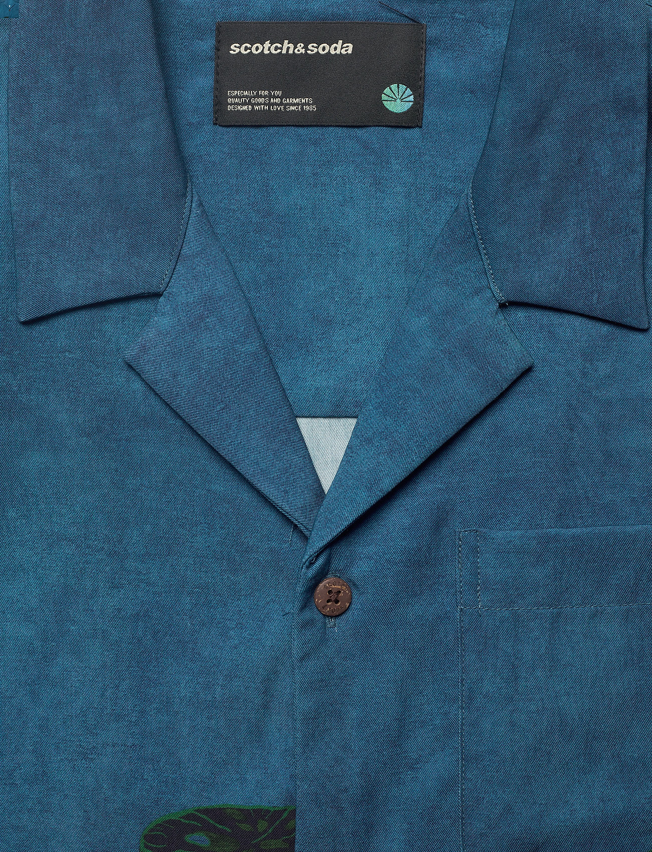 Scotch & Soda - TENCEL™ shirt with hawaiian details and placement print - chemises à manches courtes - combo a - 2