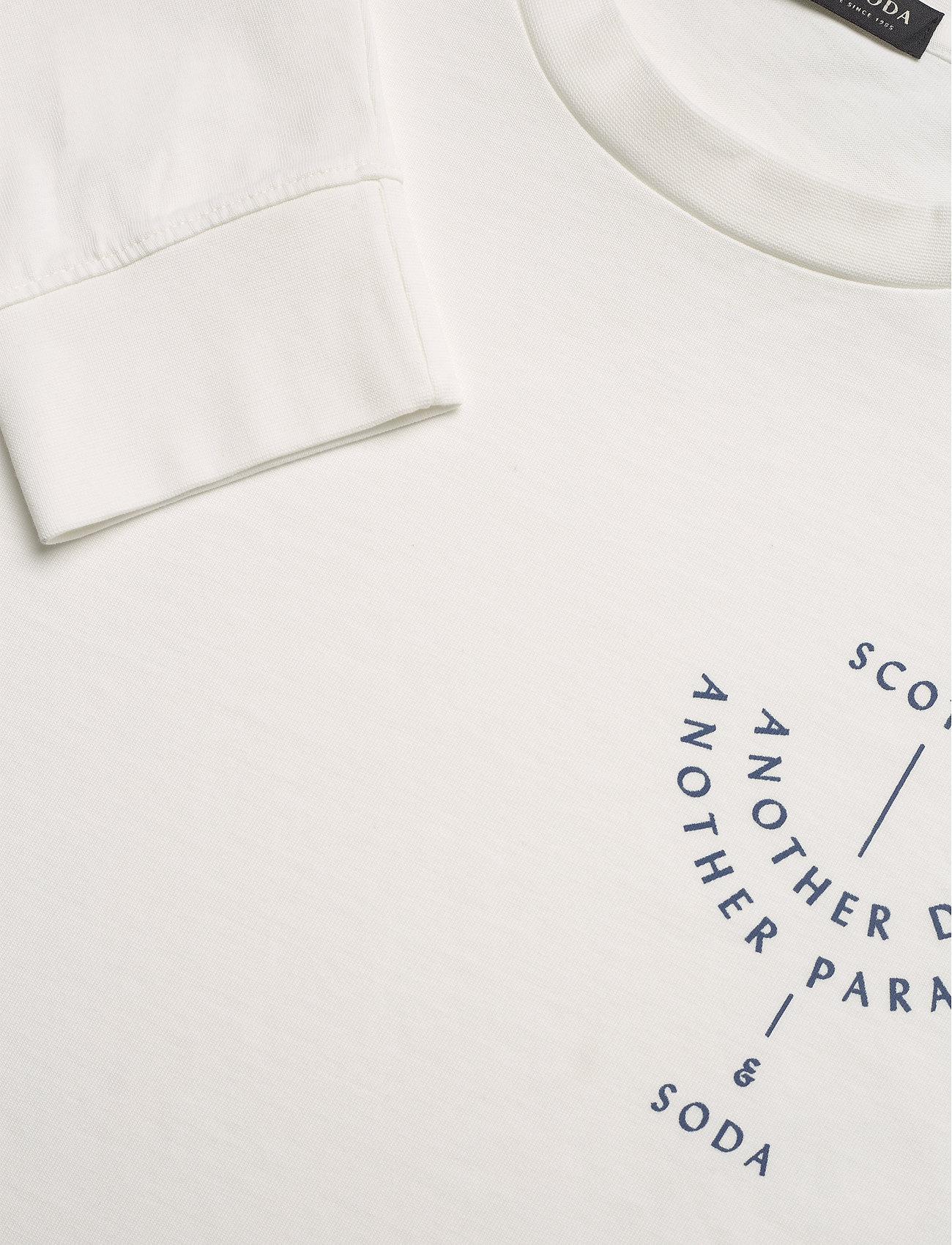 Scotch & Soda - Organic cotton-jersey longsleeve artwork tee - podstawowe koszulki - denim white - 2