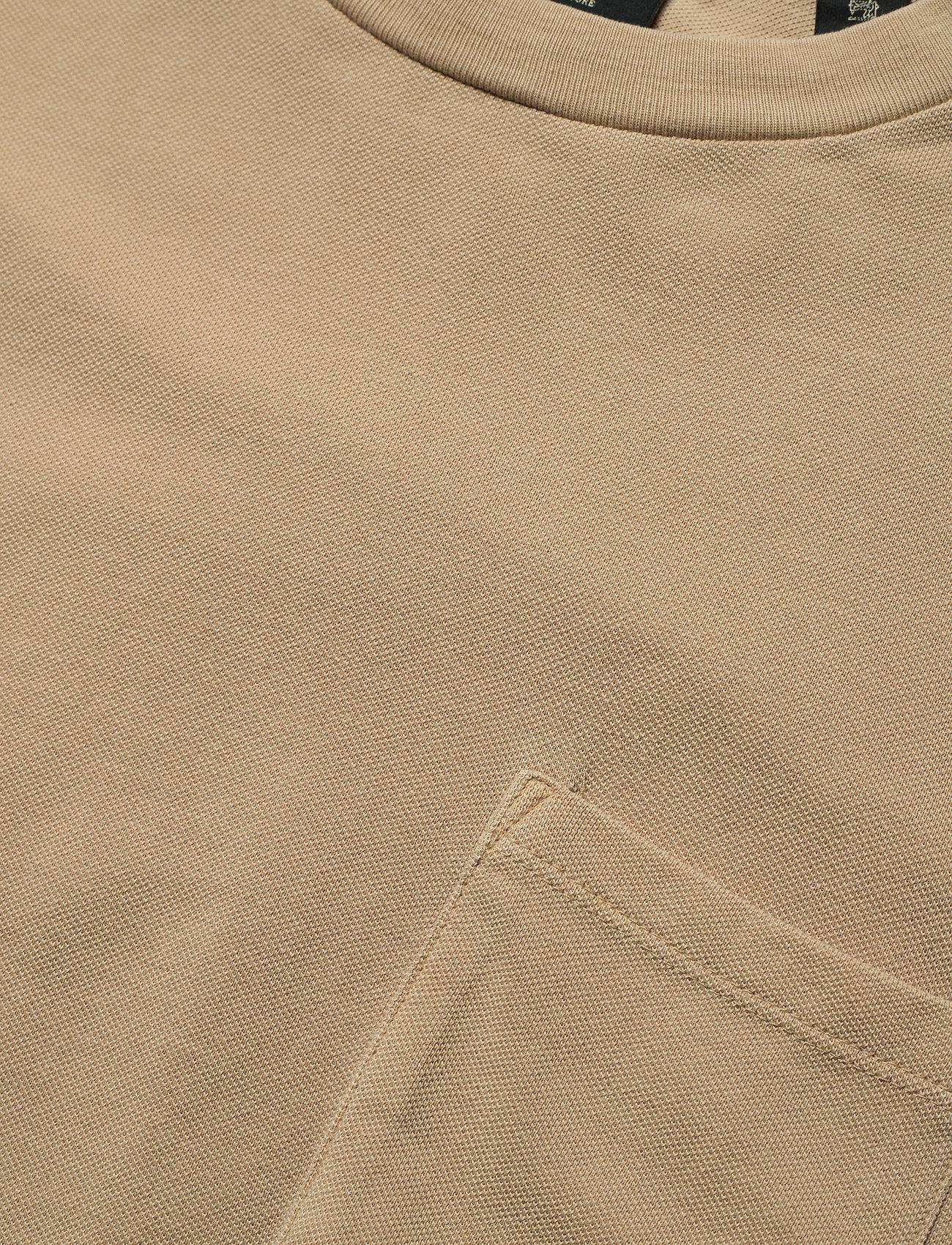Scotch & Soda - Organic cotton garment-dyed pique crewneck t-shirt - podstawowe koszulki - sand - 2
