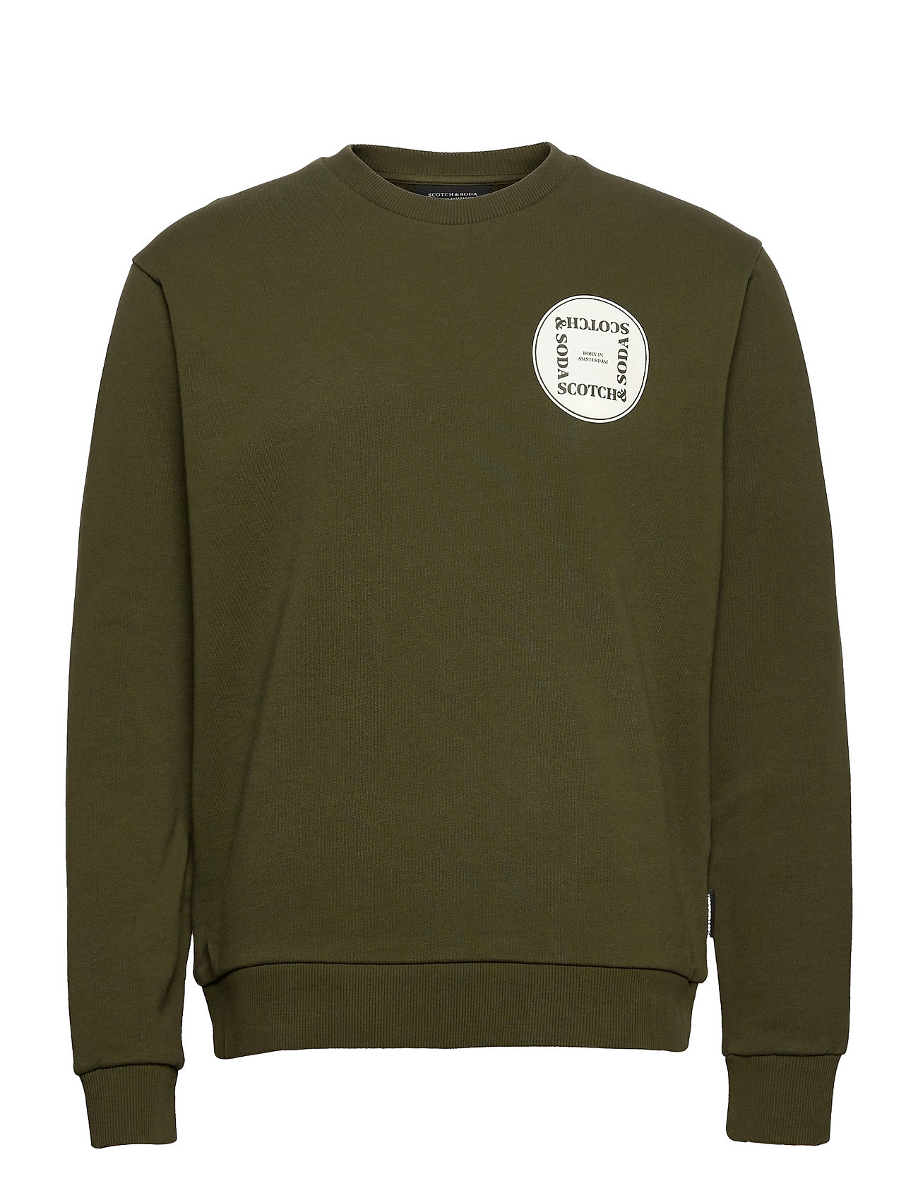 Graphic Logo Long-Sleeve Sweatshirt Trøje Grøn Scotch & Soda