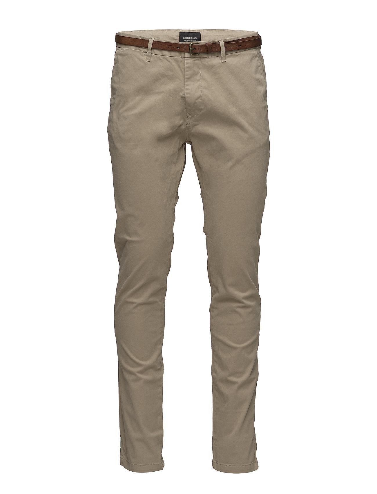 Scotch & Soda Slim fit cotton/elastan garment dyed chino pant - SAND