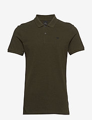 Scotch & Soda - - Classic polo in pique quality with clean outlook - short-sleeved polos - military melange - 0