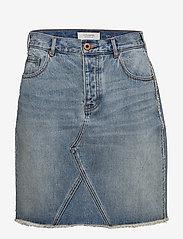 Scotch & Soda - Seasonal Denim Skirt - Customized Blauw - lyhyet - 2098 customized blauw - 0