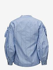 Scotch & Soda - V-neck cotton top - pitkähihaiset t-paidat - sky blue - 1