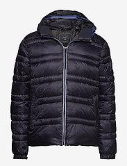 Scotch & Soda - Classic hooded down jacket - vestes matelassées - night - 0