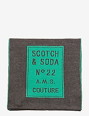 Scotch & Soda - Logo scarf in double face knit quality - scarves - combo b - 2