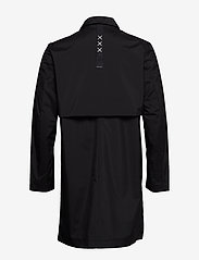 Scotch & Soda - Ams Blauw clean trenchcoat in coated quality - trench coats - black - 1