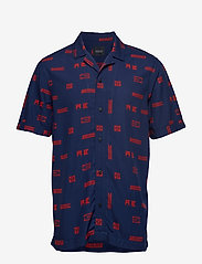 Scotch & Soda - Short sleeve shirt with prints - kortærmede skjorter - combo c - 0