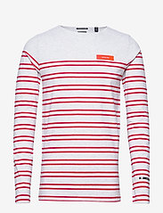 Scotch & Soda - Breton in engineered stirpes and boat neck - langærmede t-shirts - combo a - 0