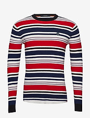 Scotch & Soda - Longsleeve tee in 3D waffle with deck chair stripes - pulls col rond - combo a - 0