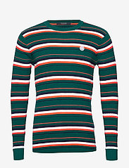 Scotch & Soda - Longsleeve tee in 3D waffle with deck chair stripes - pulls col rond - combo b - 0