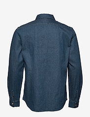 Scotch & Soda - Lot 22 popover denim worker shirt with contrast zipper - podstawowe koszulki - indigo - 1