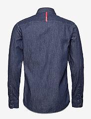 Scotch & Soda - Ams Blauw regular fit denim shirt with pochet pocket detail - podstawowe koszulki - indigo blue - 1