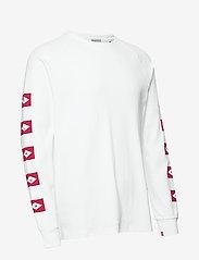 Scotch & Soda - Blauw L/S tee wtih sleeve artwork - long-sleeved t-shirts - white - 3