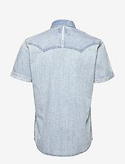 Scotch & Soda - Ams Blauw short sleeve denim western shirt with seasonal was - denimskjorter - bleached indigo - 1