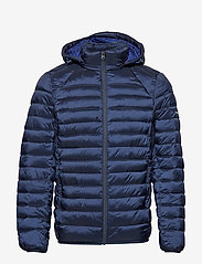 Scotch & Soda - Classic hooded light weight padded jacket - vestes matelassées - navy - 1