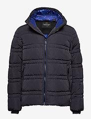 Scotch & Soda - Classic hooded PrimaLoft jacket - vestes matelassées - night - 0