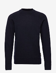 Scotch & Soda - Chic wool-blend raglan pull with high collar - tricots basiques - night - 0