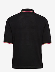 Scotch & Soda - Drapy knitted polo with sporty ribs - pikeepaidat - black - 1