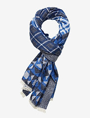 Scotch & Soda - Woven wool-blend scarf in mix and match patterns - scarves - combo b - 0