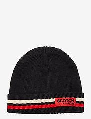 Scotch & Soda - Classic rib knit beanie - beanies - night - 1