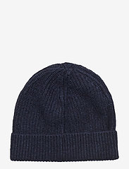 Scotch & Soda - Rib knit beanie in soft wool-blend - beanies - night - 1