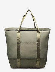 Scotch & Soda - Padded shopper with logo print - weekend bags - army - 1