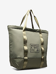 Scotch & Soda - Padded shopper with logo print - weekend bags - army - 2