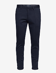 Scotch & Soda - Ams Blauw chic sweat pant with pintuck - suitbukser - navy - 0