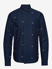 Scotch & Soda - Indigo shirt with artworks - chemises en jean - combo b - 0