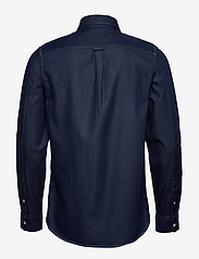 Scotch & Soda - Long sleeve indigo shirt with pochet pocket - chemises basiques - combo a - 1