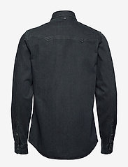 Scotch & Soda - Ams Blauw denim western shirt in seasonal washes - chemises basiques - black - 1