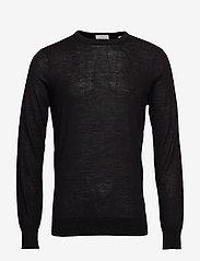 Scotch & Soda - Merino merino wool knit - tricots basiques - black - 0