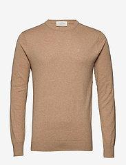 Scotch & Soda - NOS Cotton cashmere crewneck knit - pulls col rond - camel melange - 0